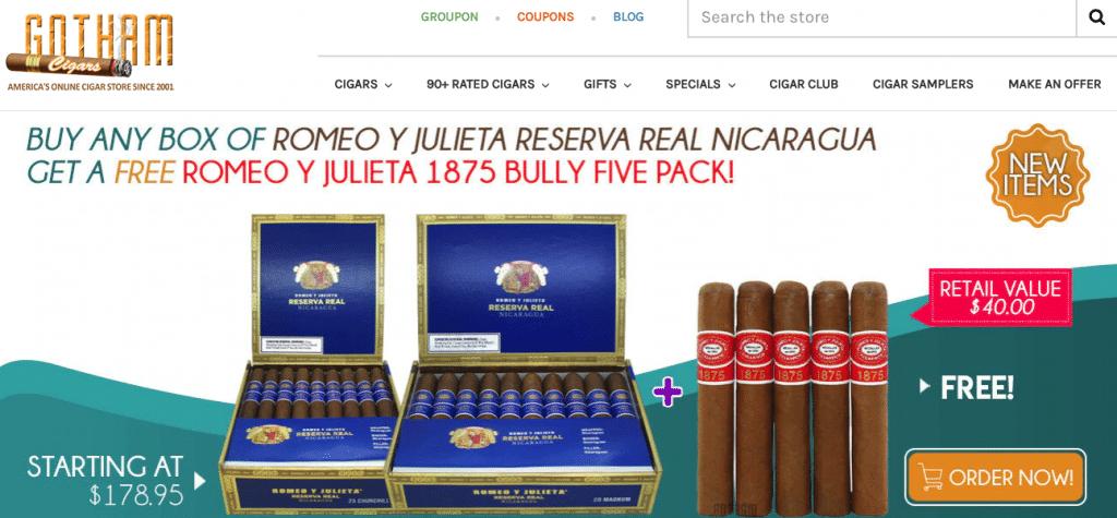 buy cigars online from gotham cigar