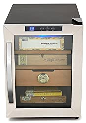 whynter stainless steel cigar humidor