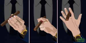 how to hold a cigar in your mouth